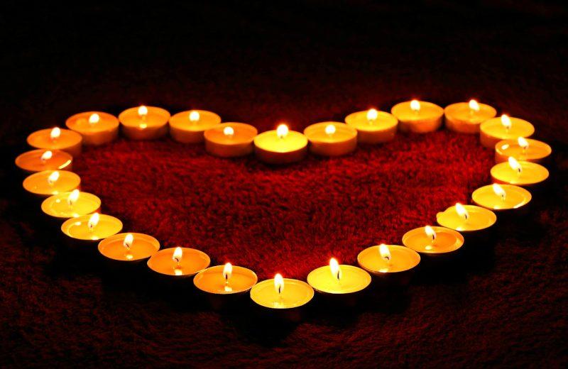 Burning Tea Light Candles