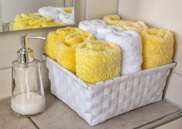 Clean Towels in A Basket