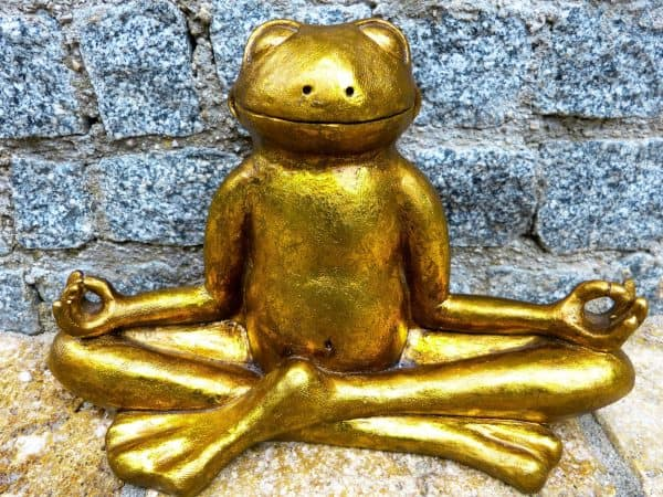 Gold Frog Figurine